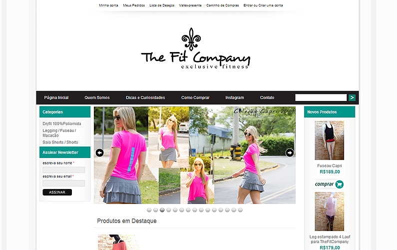 Criação para site para e-commerce: The Fit Company